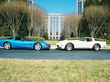 mine and my dad's vettes