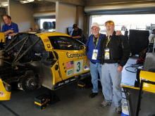 Roger and Benny, supervising the race prep of the #3, at the '08 Laguna Seca ALMS.