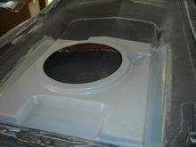 Replacing the cut up air box in an original L88 hood...
