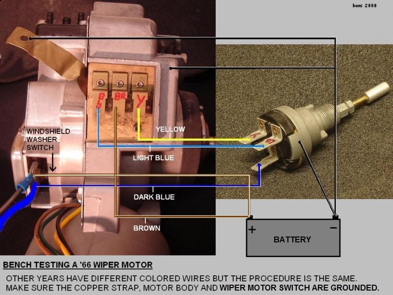 W S Wiper Motor Electrical Wiring Question 66 Coupe Corvetteforum Chevrolet Corvette Forum Discussion
