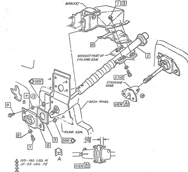 64 chevelle steering column repair