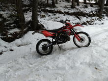 Spring has sprung, and the snow is getting soggy wet. Hard to find a place to put the kickstand down and not topple over. Fun fun fun!