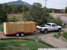 23254Truck trailer with sides up