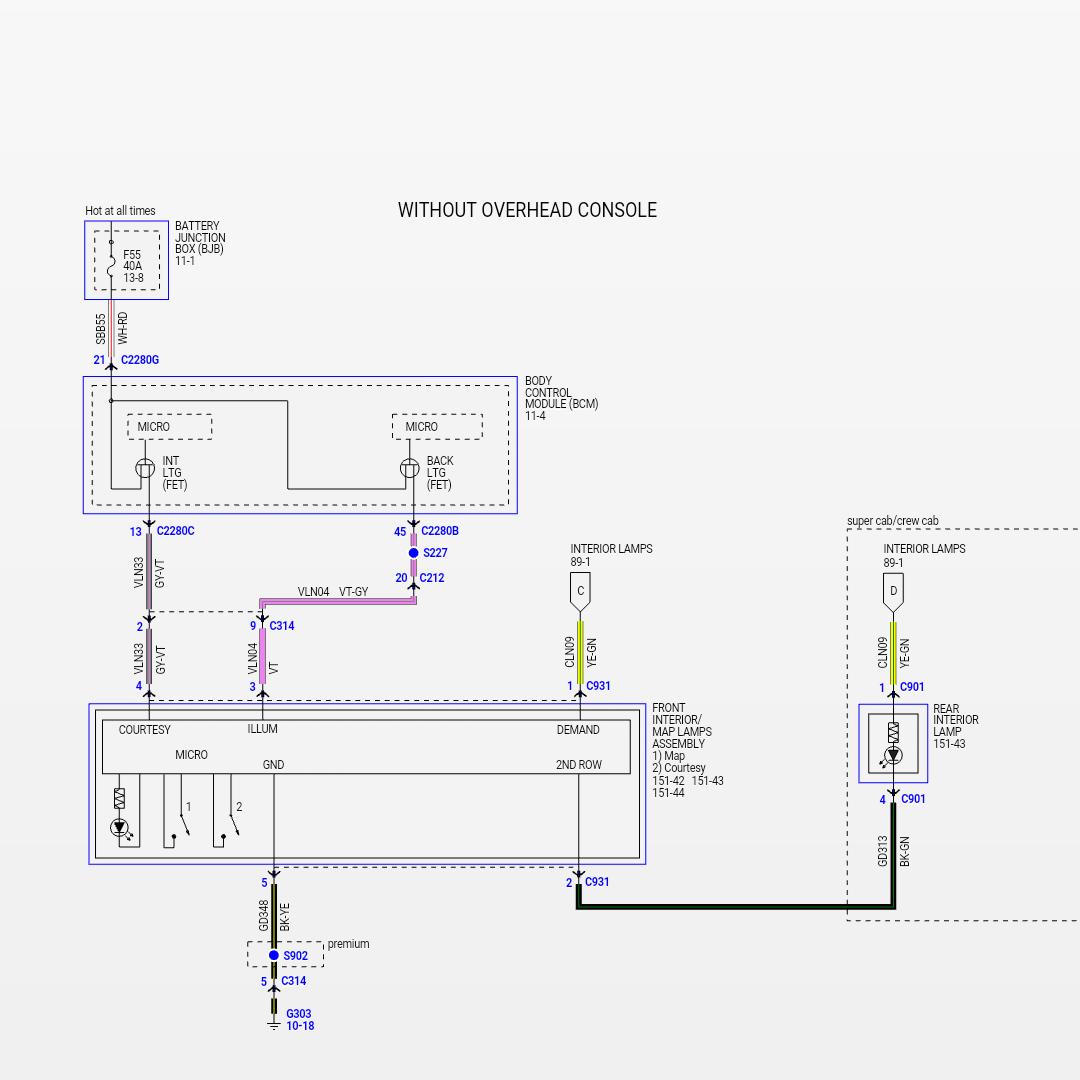 Ford Ranger Dome Light Wiring Diagram
