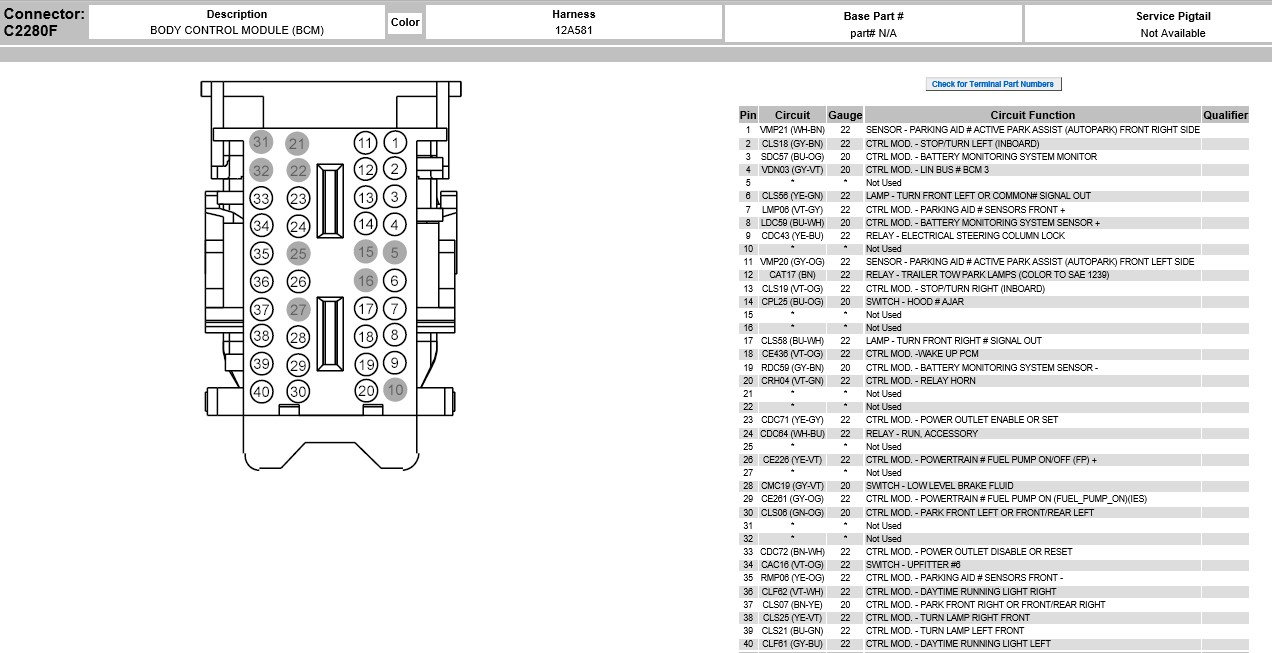 Help Wiring Diagram Or Location - Ford F150 Forum