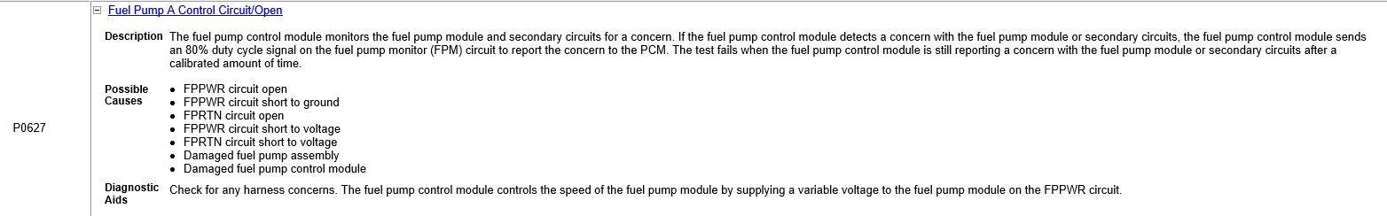 Fuel pump control module? - Ford F150 Forum - Community of