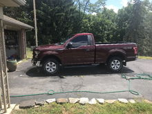 """Only had it a week so 25% tint, 28"""" magna muffler and removed the lift blocks. Really loving this truck, 16 bronze fire."""