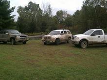 muddy trucks .... and a durango :)