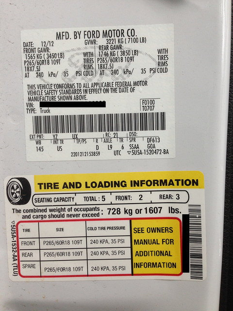 reading  door jamb sticker ford  forum