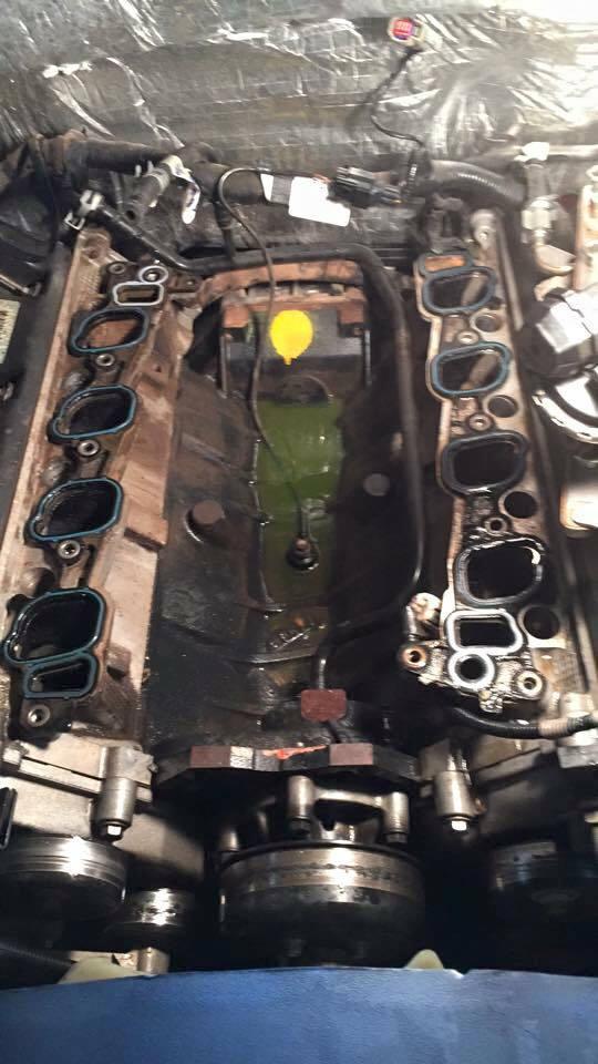 2007 F150  4 6 Coolant Leak Between Aluminum Crossover And