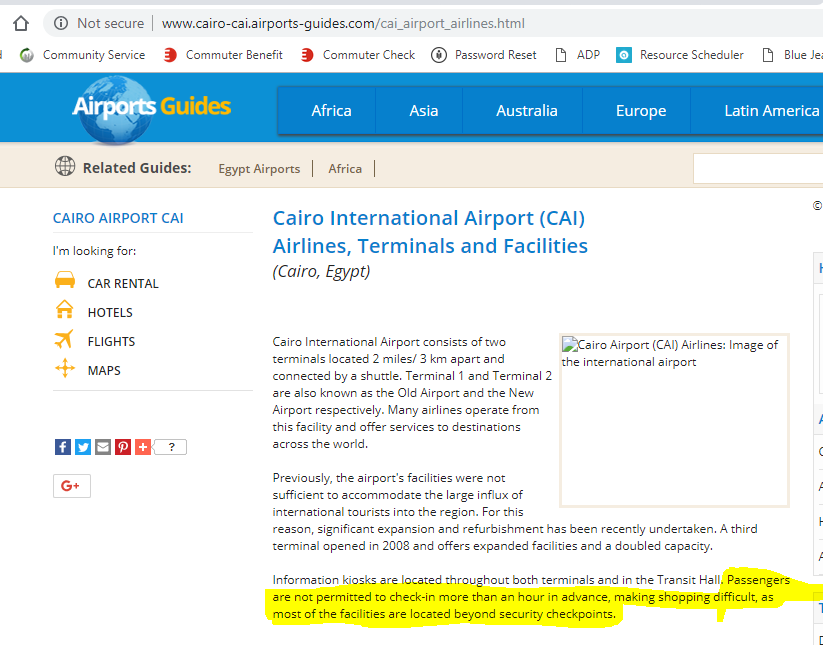 Cairo Airport Check-in? - FlyerTalk Forums