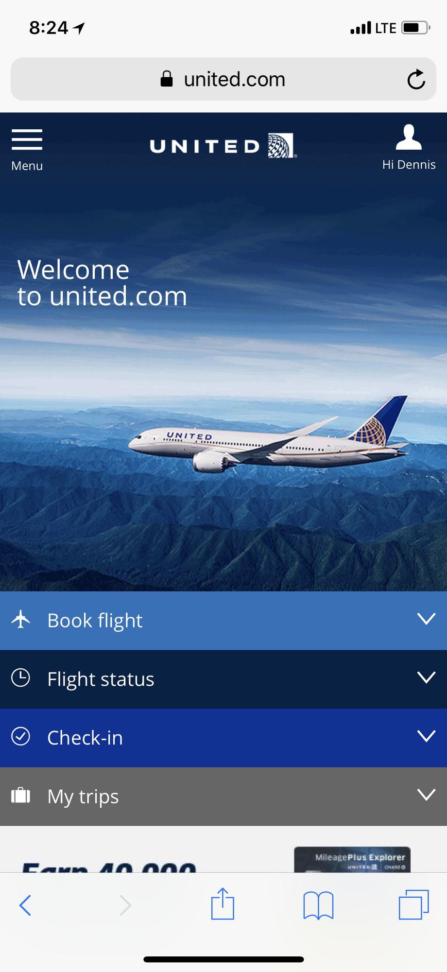 New mobile united com site? - FlyerTalk Forums