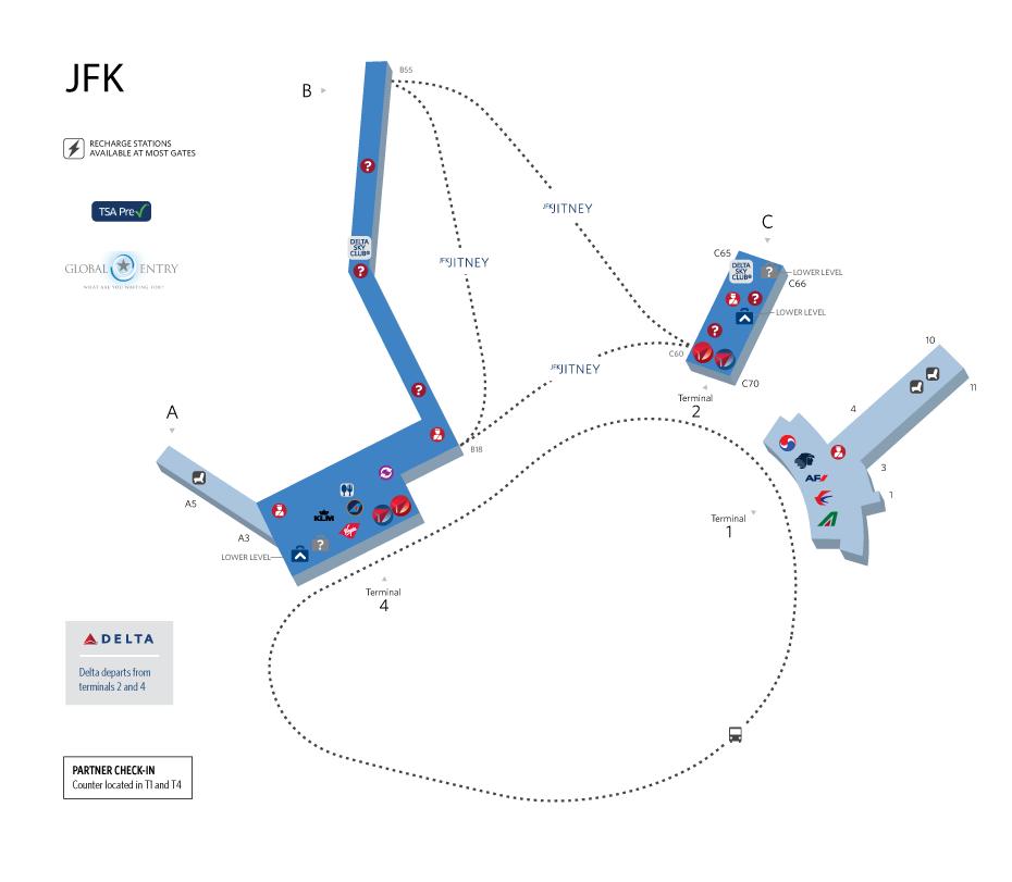 map of jfk terminal 4 Minimum Connection Transfer Time At New York Jfk The Definitive map of jfk terminal 4