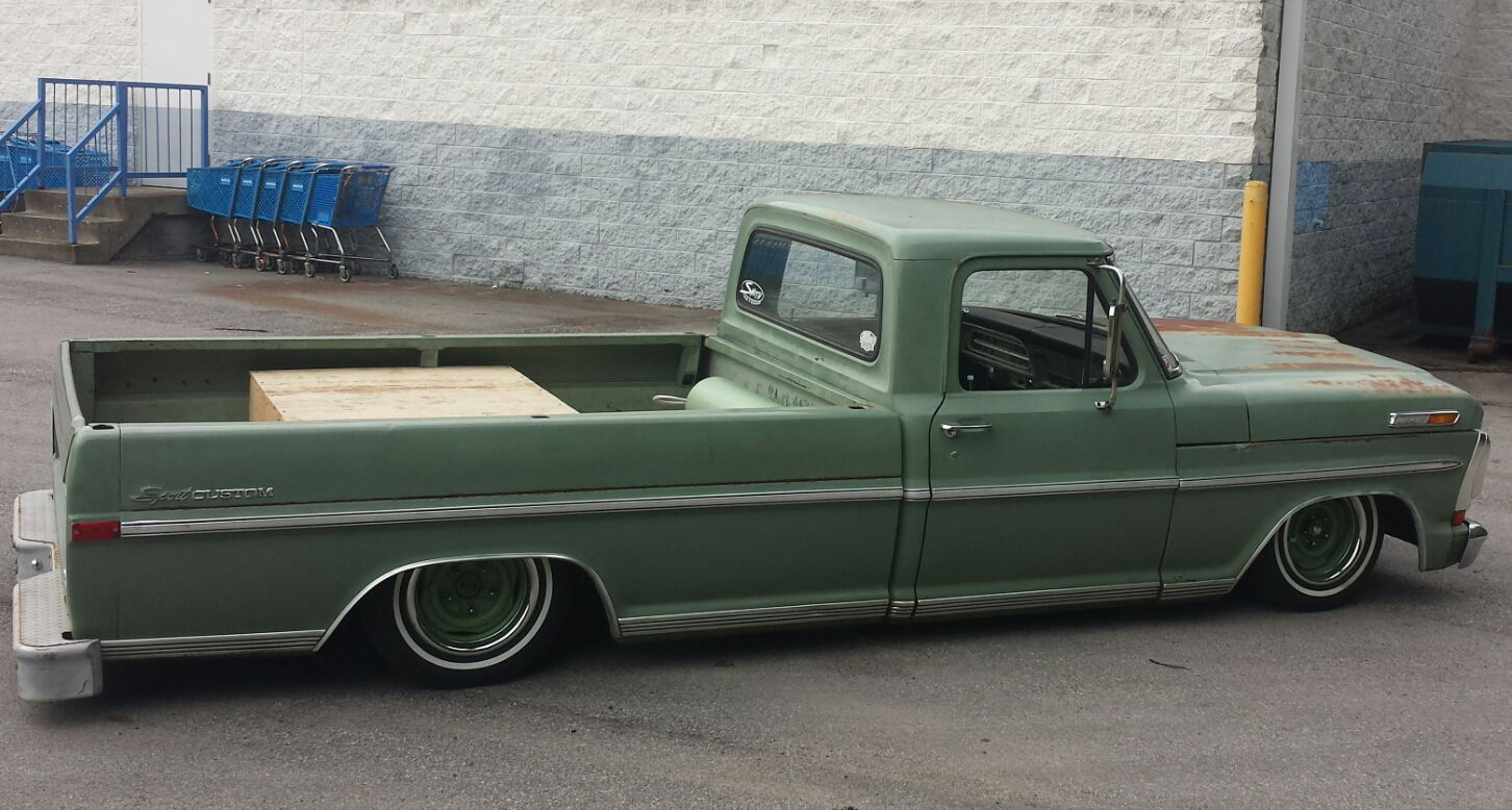 My mildly lowered 1970 f100