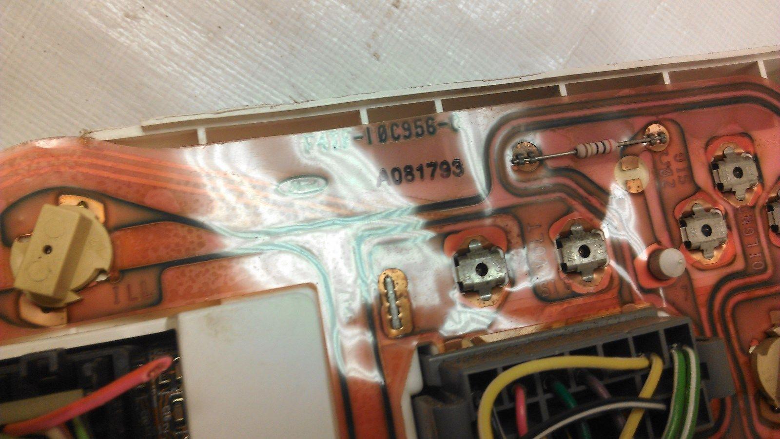 1980 1986 1980 1986 Ford Bronco Truck Gauge Cluster Printed Circuit