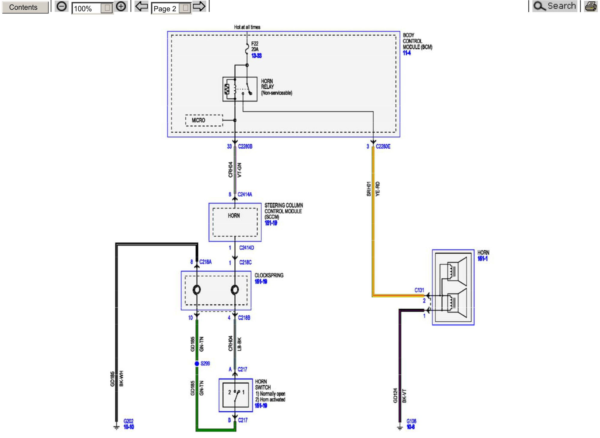 2015 Superduty Factory Horn Wiring Schematic - Ford Truck ...