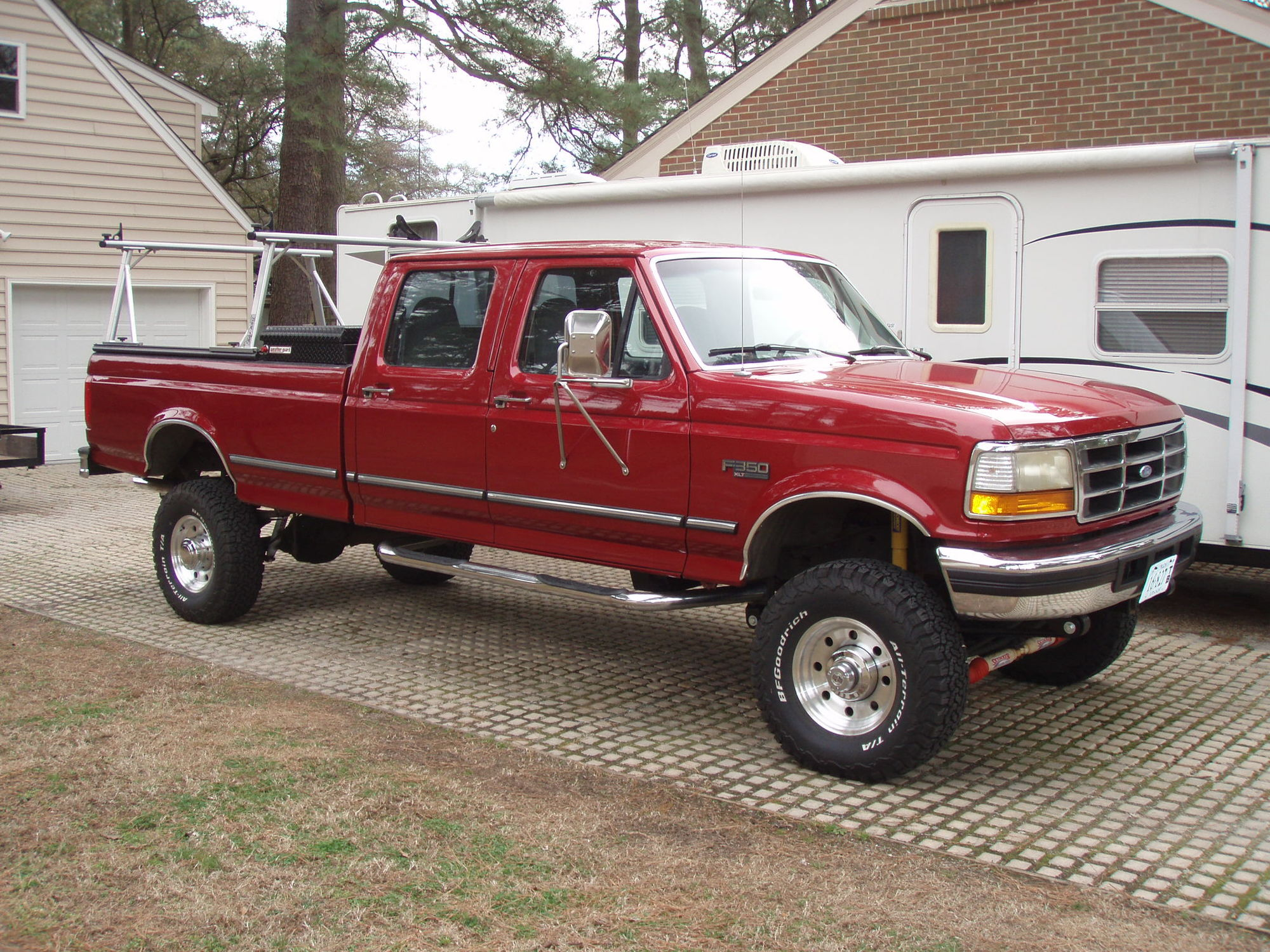 97 f 350 4x4 pmf rsk with super duty springs install. Black Bedroom Furniture Sets. Home Design Ideas