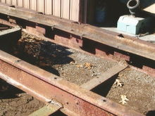 When the company added the hoist they removed the wood bunks and welded the bed to the hoist frame. 60+ years of twisting took its toll on all the welds