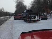 towed  Fuel gelled!