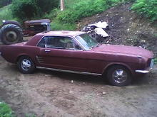 66 Mustang I rescued from a South Carolina junk yard just as you see it.