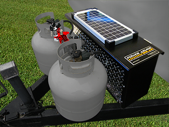 Locking Battery Box With Solar Charge Torklift