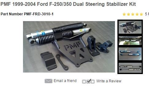 PMF Dual Steering Stabilizer - Ford Truck Enthusiasts Forums