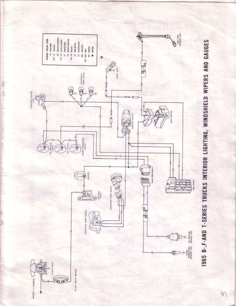 1965 F100 Instrument Panel Wiring Diagram