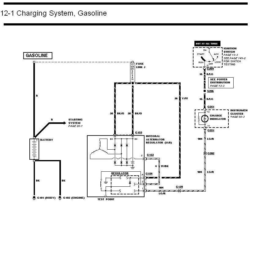1992 bronco alternator  charging issue