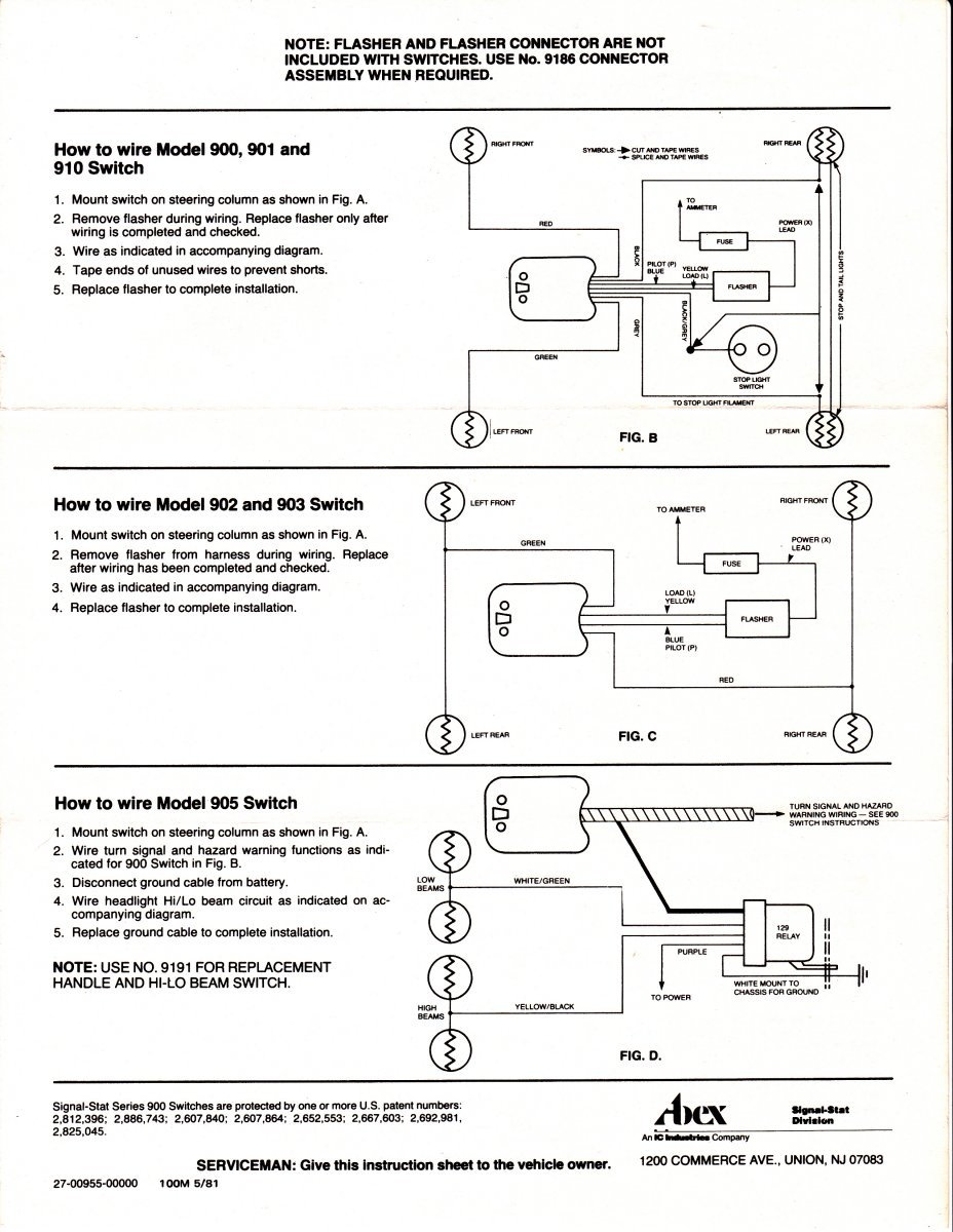 Wiring Diagram For Signal Stat 700
