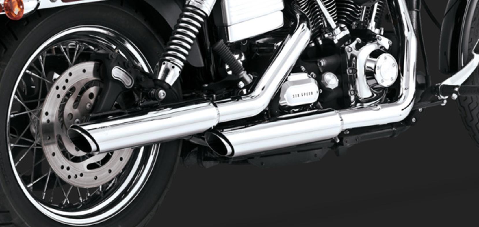 Vance & Hines Twin Slash 3-inch Slip-Ons - Harley Davidson