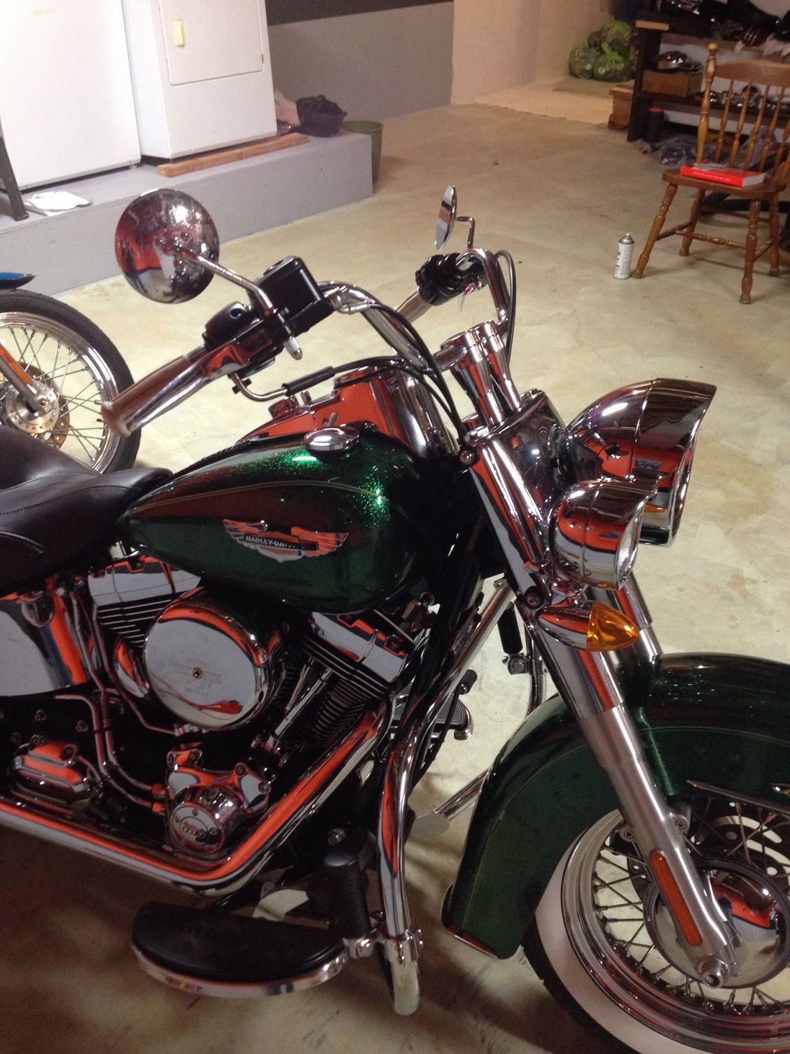 Harley Night Train >> Fatboy Handlebars on a Deluxe - Harley Davidson Forums