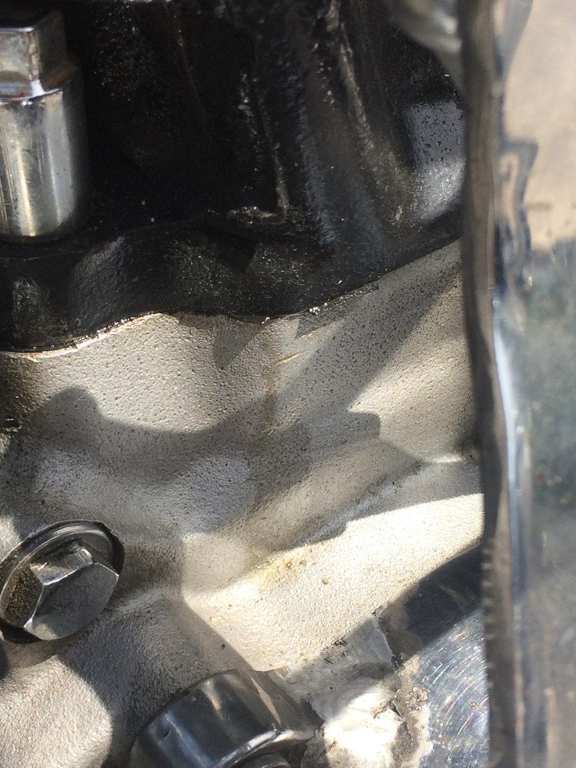 How bad is this base gasket leak? - Harley Davidson Forums