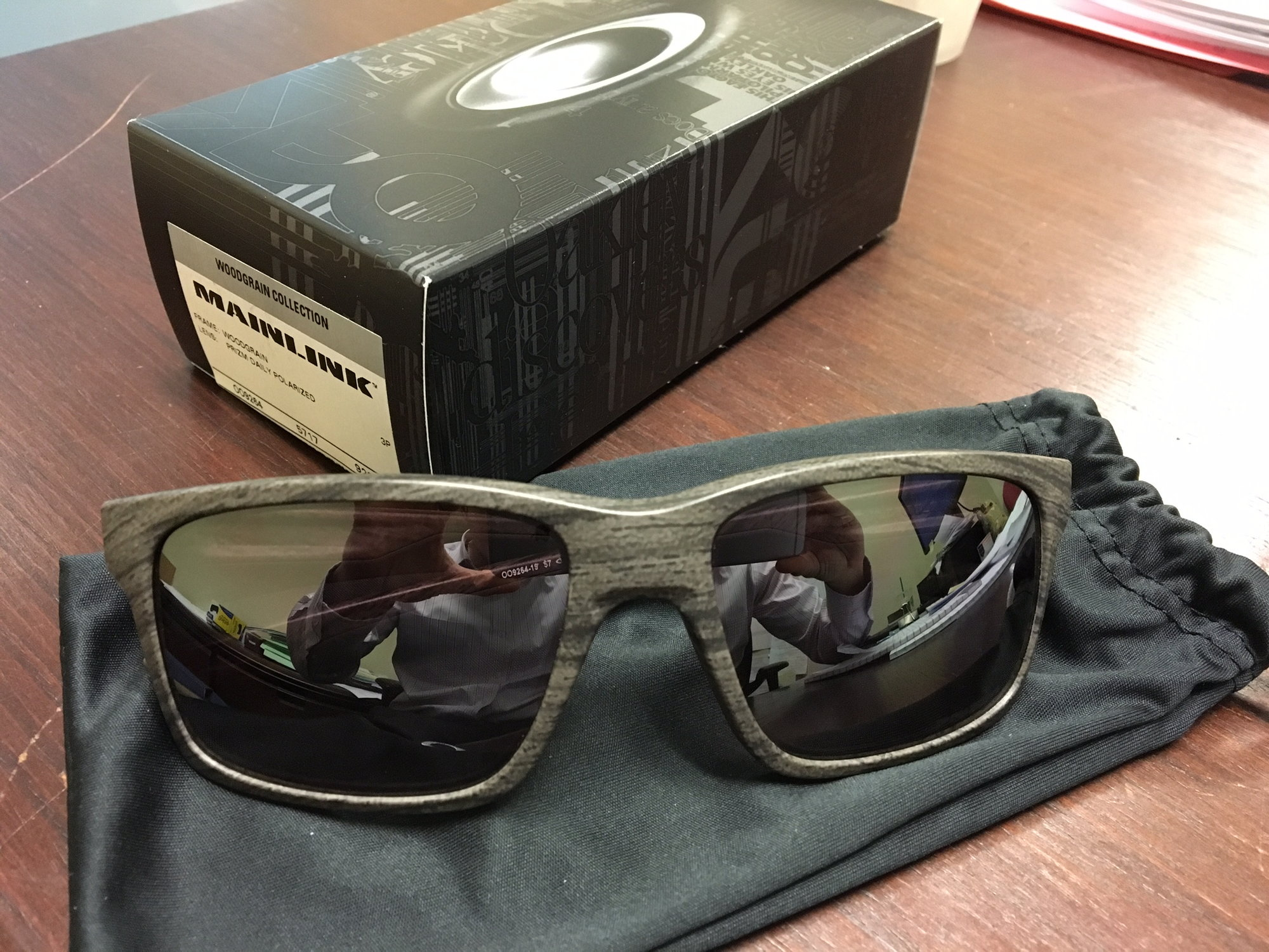 7cd188a1e10 Oakley Mainlink Woodgrain Prizm Polorized Lens - Limited Release ...