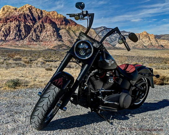 My 2010 Fatboy Lo on a nice December day out at Red Rock.