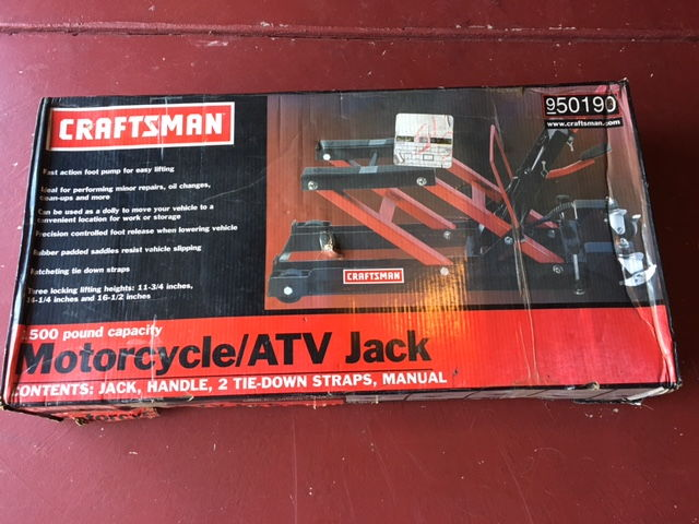 Sears Craftsman Motorcycle : Sears craftsman motorcycle lift still in box near