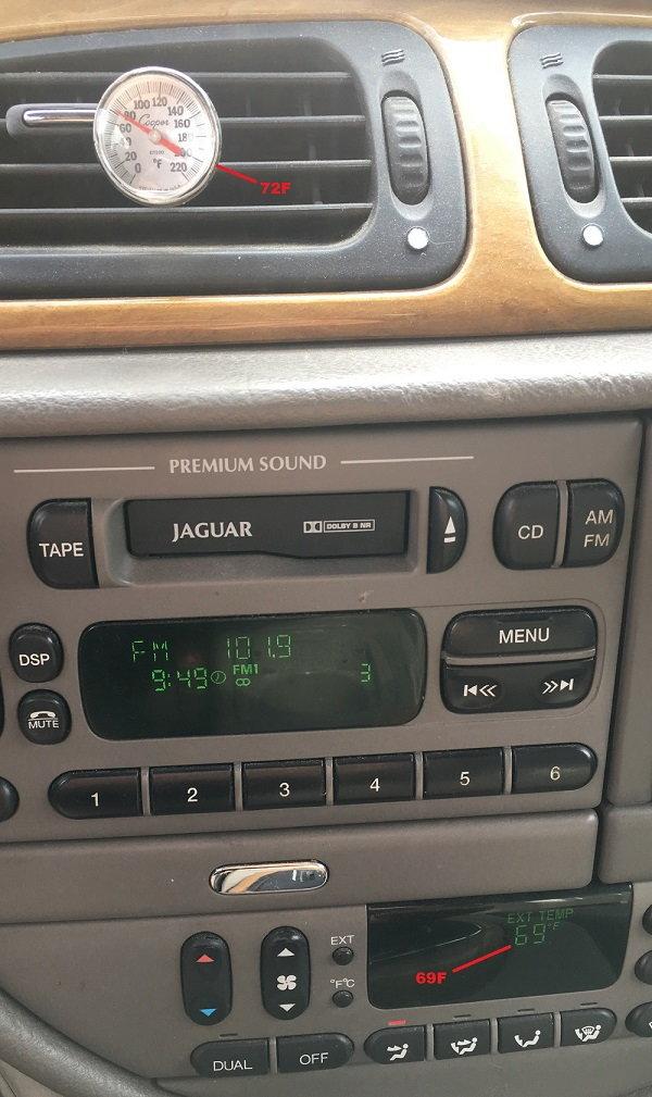 Jaguar S Type New Genuine Upper Right Recirculating Air Duct Flap Motor