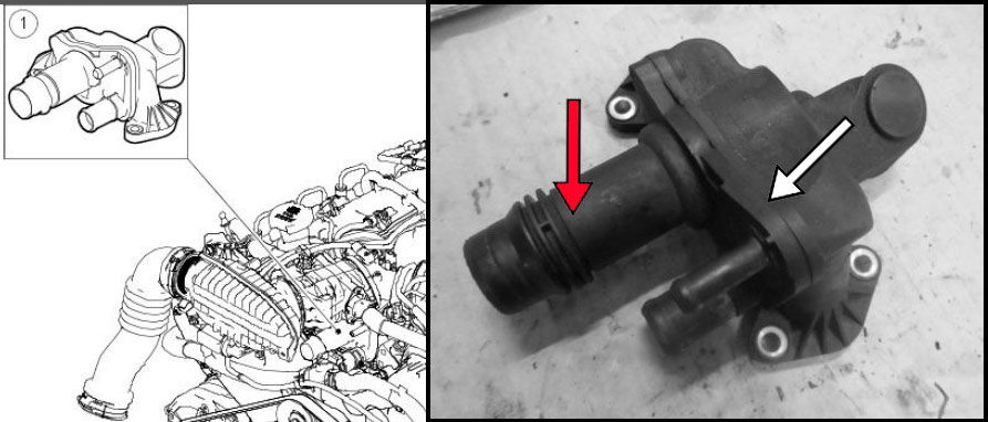 Severe Coolant Leak From  U0026 39 Engine Coolant Thermostat
