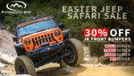 JK Rear Bumper Smooth Motion Tire Carrier System