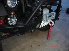 warn bumper and winch upclose
