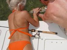 fishing girl.