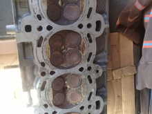 this is the cylinder head and just put on the circle the difference and also I post a picture of the engine block