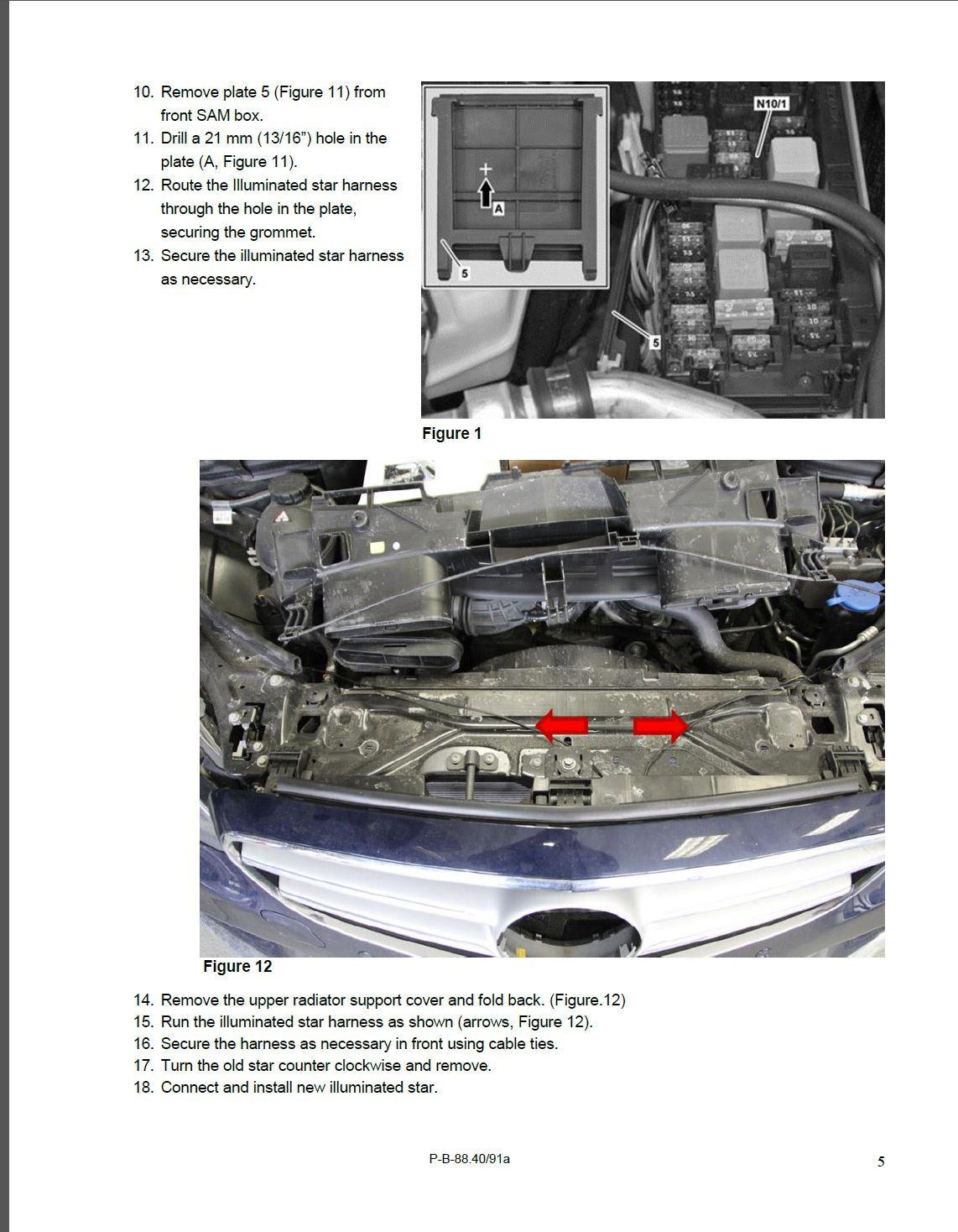 Mercedes illuminated star aftermarket wiring diagrams for Illuminated star mercedes benz installation