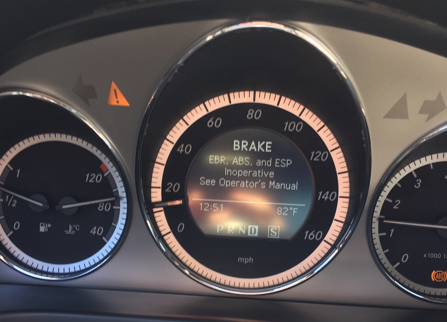 Power Steering Malfunction, Brake (EBR, ABS, ESP Inoperative