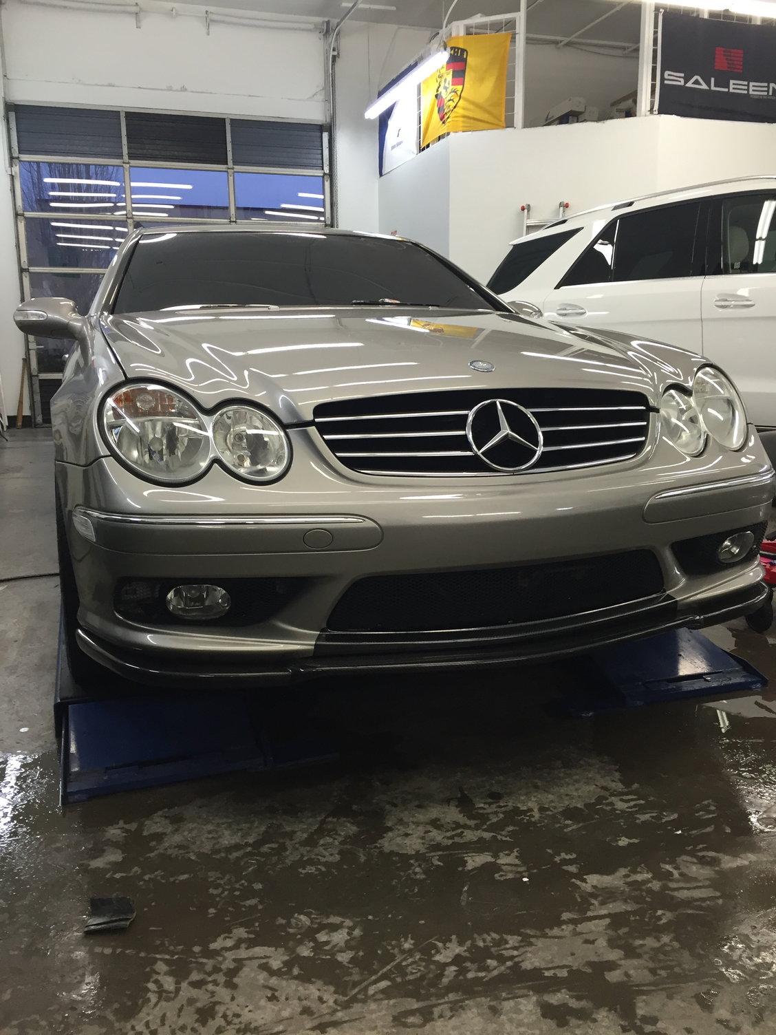Fs Carbon Fiber Front Lip For 03 06 W209 Amg Front Bumper