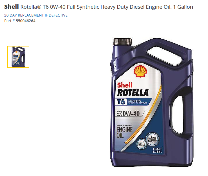 Shell Rotella T6 New Formulation - MBWorld org Forums