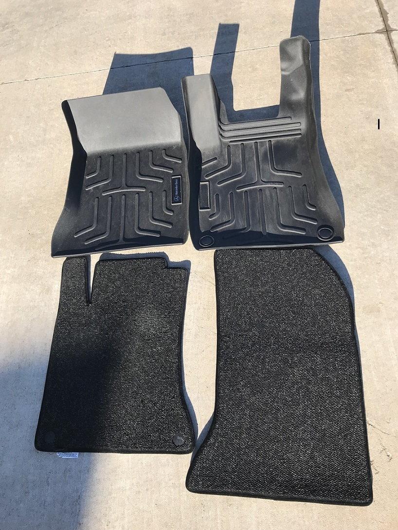 2015 CLA250 parts, AMG Strut Tower Brace, floor mats, diamond grill, dash mat