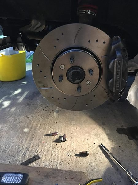 Grand Scenic1.5DCi Front Drilled Grooved Brake Discs 04