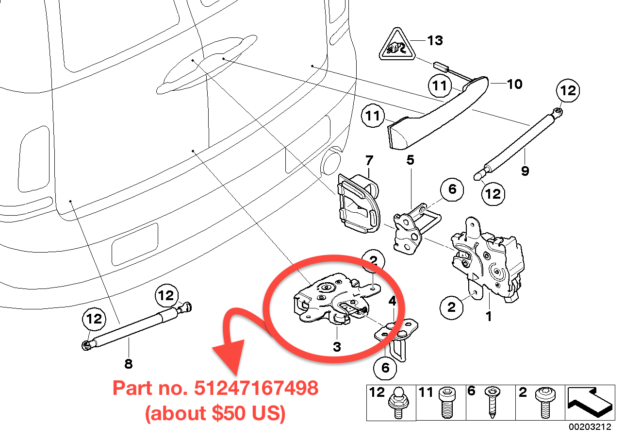r55 how to replace the left barn door lock on the 2007 u20132014 clubman