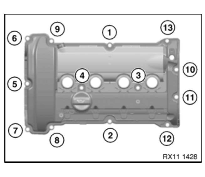 Torque Spec For Upper Timing Chain Guide And Valve Cover