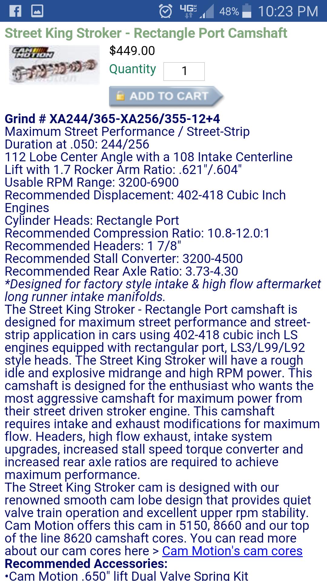 415 stroker cam - PerformanceTrucks net Forums